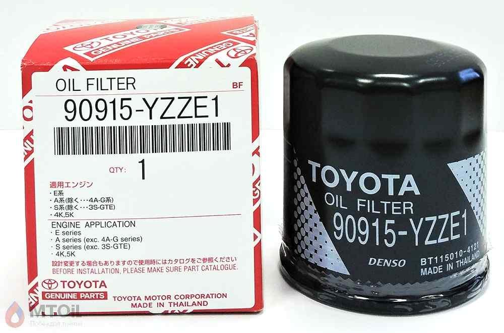 Фильтр масляный оригинальный Toyota 90915-YZZE1 - 1