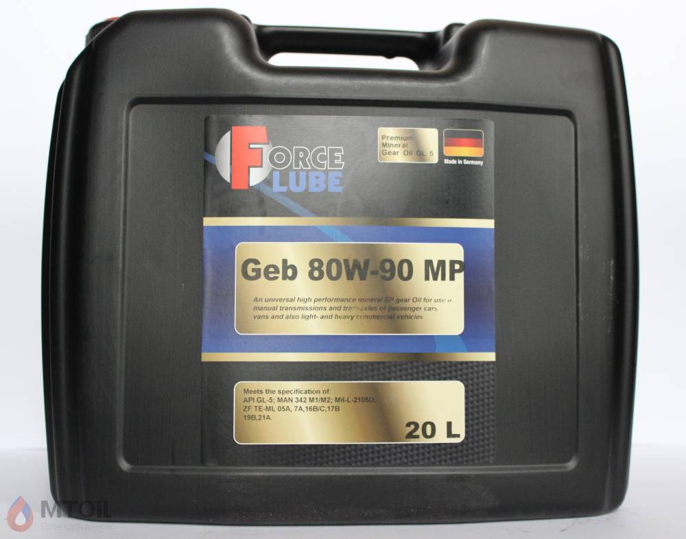 Force Premium Gear Oil Geb MP GL-5 80w-90 (20л)