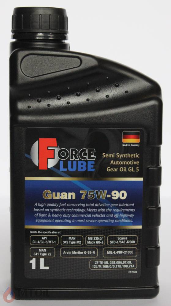 Force Gear Oil Guan GL-5 Semi Synthetic 75w-90 (1л) - 17922