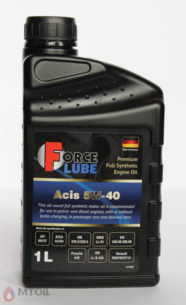 Force Premium Full Synthetic Engine Oil Acis 5w-40 (1л) - 17931