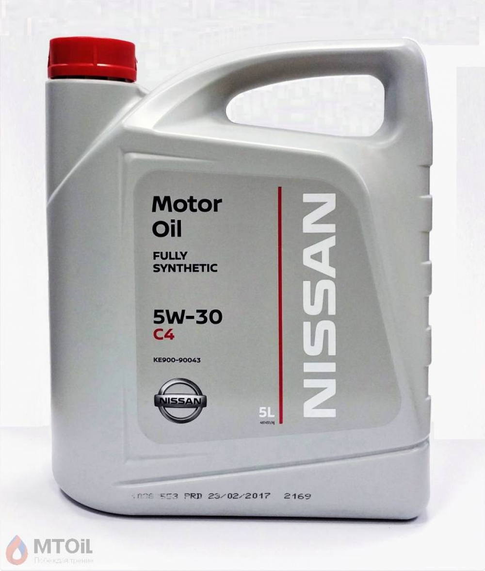 Моторное масло Nissan Motor Oil DPF 5W-30 (5л) - 19246