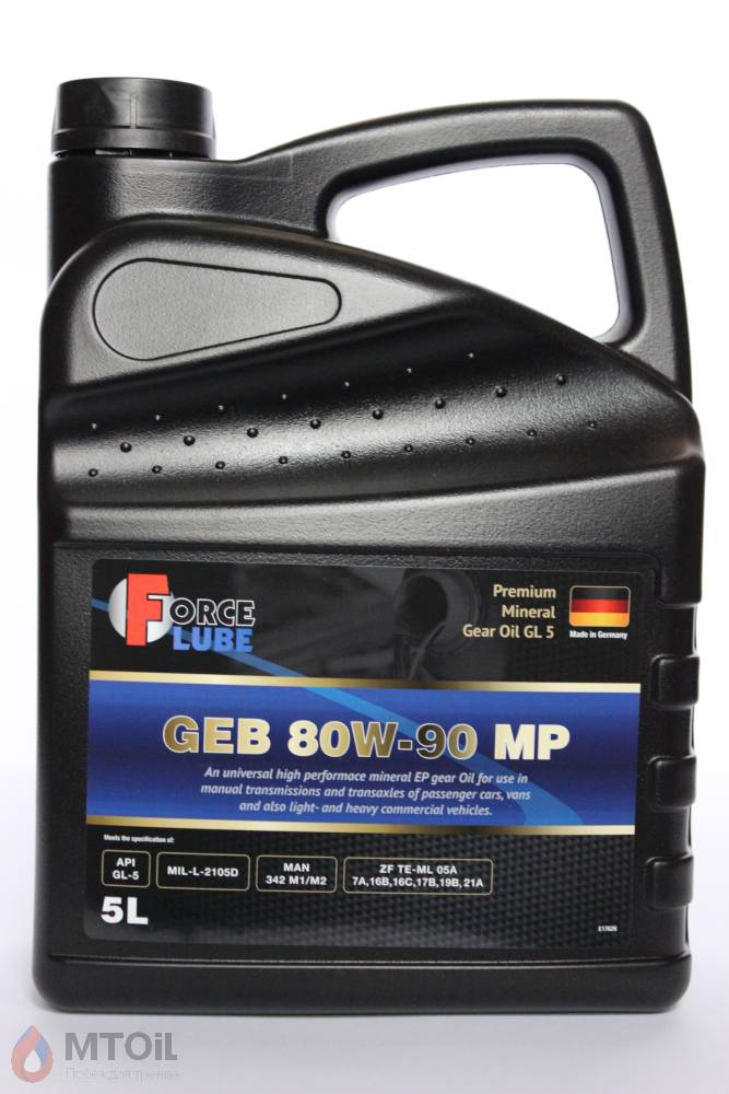 Force Premium Gear Oil Geb MP GL-5 80w-90 (5л) - 17940