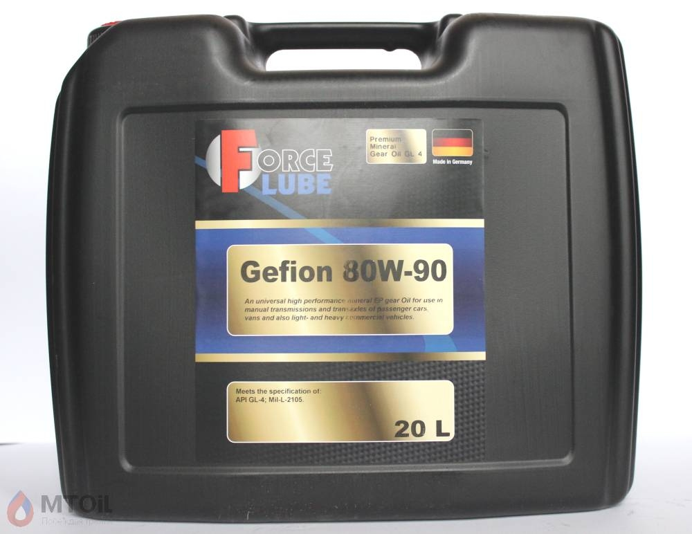 Force Premium Gear Oil Gefion GL-4 80w-90 (20л) - 17937