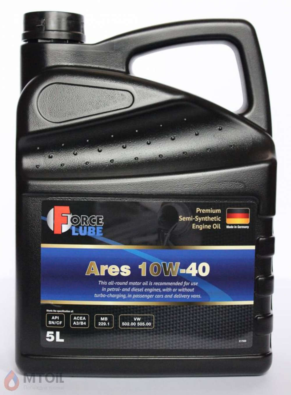 Force Premium Semi Synthetic Engine Oil Ares 10w-40 (5л) - 17926