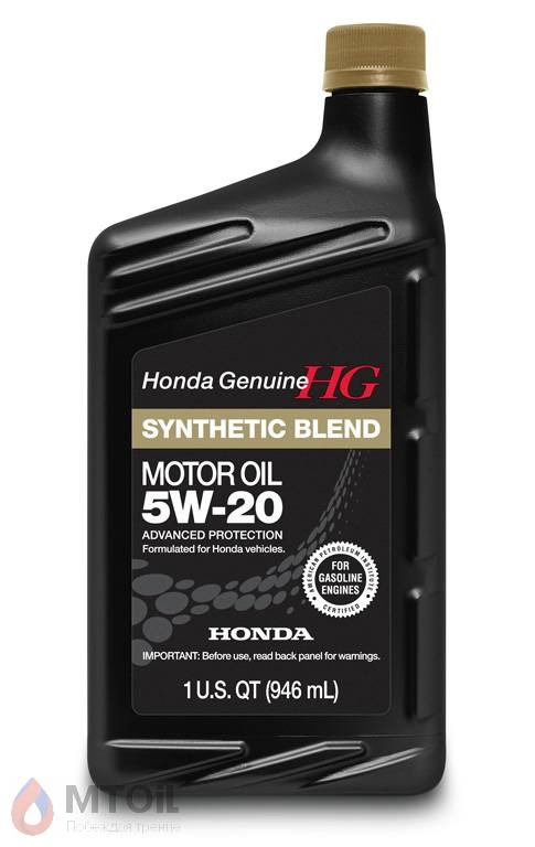 Моторное масло Honda HG Synthetic Blend 5W-20 (0,946л) - 18077