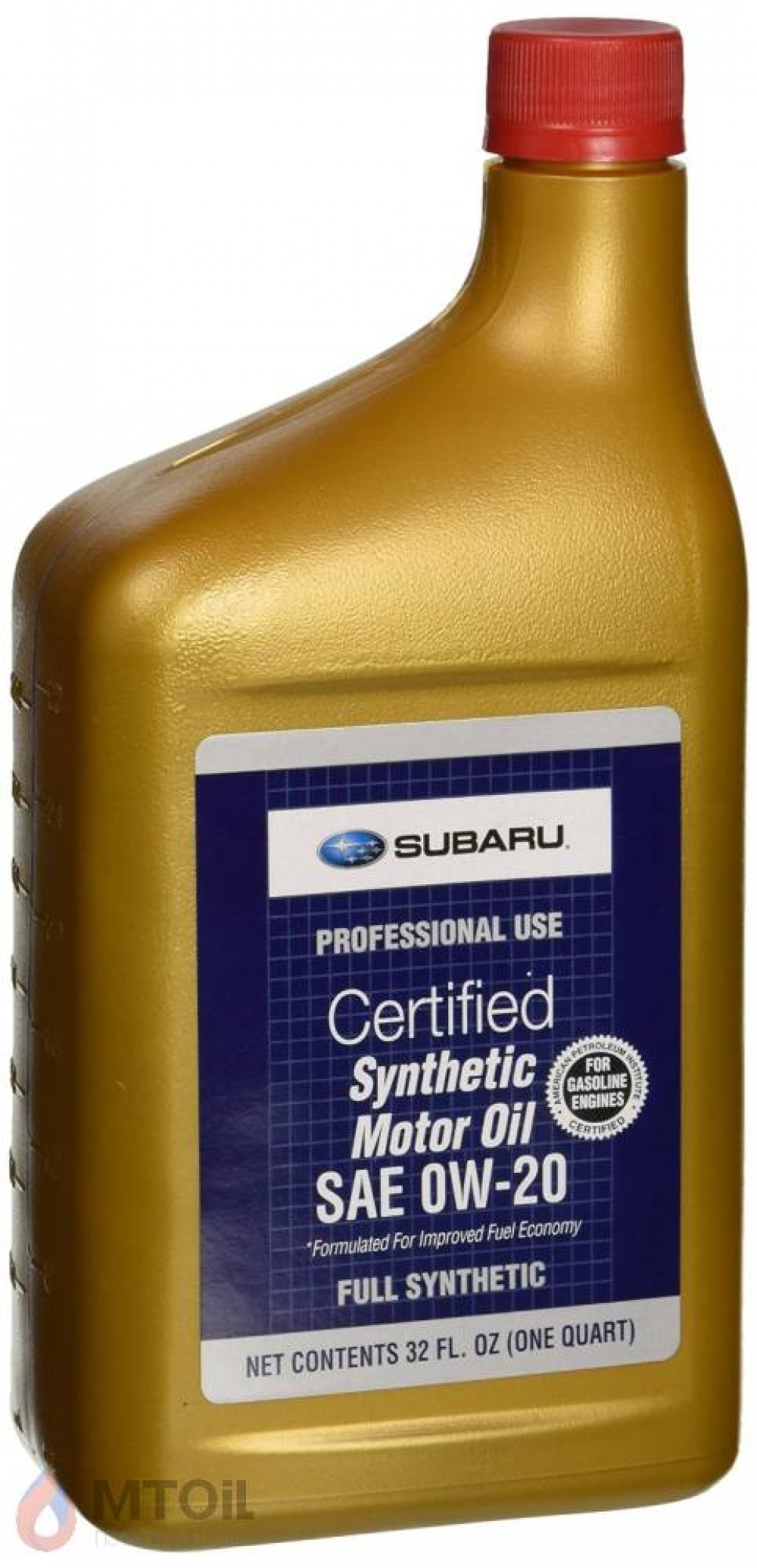 Моторное масло Subaru Synthetic Motor Oil 0W-20 (0,946л) - 17975