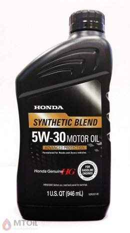 Моторное масло Honda HG Synthetic Blend 5W-30  (0,946л)