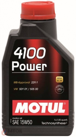 MOTUL  4100 Power 15w-50 (1л)