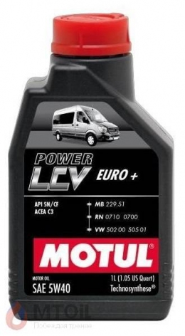 MOTUL  Power LCV Euro+ 5w-40 (1л)