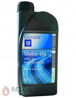 Моторное масло GM  Semi Synthetic 10w-40 (1л)