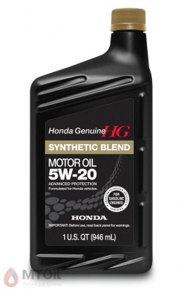 моторное масло Honda HG Synthetic Blend 5w-20 (0,946л)