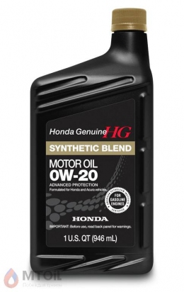моторное масло Honda HG Synthetic Blend 0w-20 (0,946л)