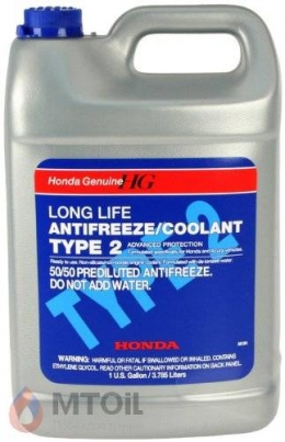 Антифриз  Honda/Acura Type 2 Antifreeze 50/50  (3,785л)