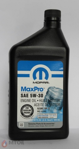 моторное Mopar Engine Oil 5w-30 (0,946л)